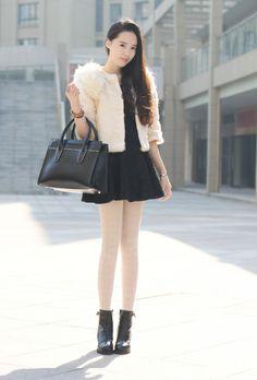 Dress collocation, winter fashion, coat, sweater