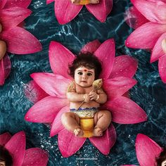 Image may contain: flower Baby Ganesha, Baby Krishna, Cute Krishna, Krishna Art, Lord Murugan Wallpapers, Lord Krishna Wallpapers, Lord Shiva Hd Images, Ganesh Images, Hanuman Images