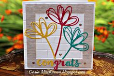 Independent Stampin' Up ! Demonstrator Gosia MacKinnon: SUNSHINE WISHES CONGRATULATIONS CARD IDEA WITH STA...