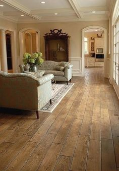 "Tuscany™ Collection 6-3/4"" (17 cm) wide, Vintage French Oak hardwood floor, smooth face, hand... more » $20.00 