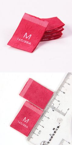 Woven size labels by Sinicline.