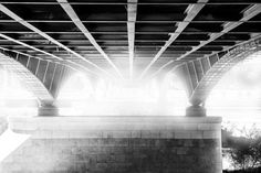 Under the bridge - Taken during a walk nder the Lazienkowski bridge on vistula river. Picture taken on east side of the river.