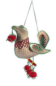 Iroquois beadwork, bird