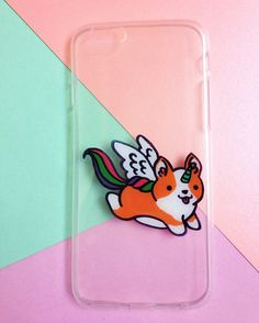 Hand painted Corgi Unicorn phone case - iPhone 6 case clear- iPhone 6 case - iPhone 6s case - Pokemon Phone Case - Samsung Galaxy S7 Edge Case sold by Mint Corner. Shop more products from Mint Corner on Storenvy, the home of independent small businesses all over the world.