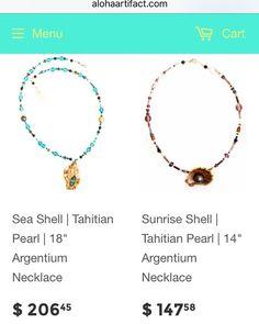 Exclusive first look! #tahitianpearljewelry #sunriseshell #chockernecklace #shesellsseashells #aloha #artifact