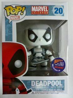 Funko Marvel POP! Deadpool Black & White Matt's Comics Exclusive Get more POP! Vinyls here http://popvinyl.net #funko #popvinyl