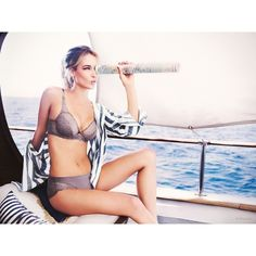 Hannah Ferguson Fronts Triumph Lingerie Spring 2015 Ad Campaign ❤ liked on Polyvore
