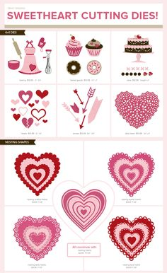 Lifestyle Crafts cutting dies- loving the hearts!