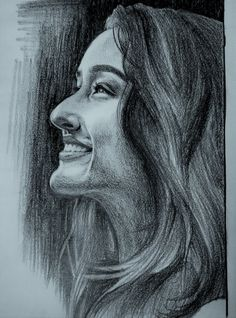 Truly a fascinating portrait sketch of shradha kapoor done s Pencil Sketch Portrait, Pencil Sketch Drawing, Girl Drawing Sketches, Art Drawings Sketches Simple, Doodle Art Drawing, Portrait Sketches, Pencil Sketches Of Girls, Beautiful Pencil Sketches, Sketches Of Girls Faces