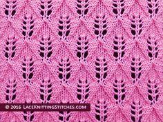 #laceknitting. #1 Fern Lace or Leaf-Patterned stitch