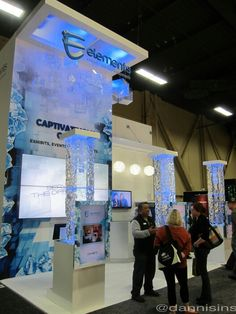 Tall eye catching booth at Exhibitor 2013