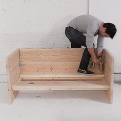 HOME DZINE Home DIY | Make a box sofa using Pine, Meranti or reclaimed wood