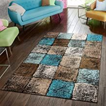 Wrought Studio Keneipp Geometric Turquoise/Brown Area Rug Rug Size: Rectangle x Living Room Area Rugs, Room Rugs, Living Room Decor, Living Room Turquoise, Turquoise Rug, Design Page, Home Designer, Room Color Schemes, Home Decor Furniture