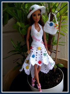 #Crochet #Vestido #Dress #Hat #Purse #Chapéu #Sombrero #Bolsa  #Cléa5 #RaquelGaucha