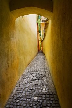 Rope Street is the narrowest street in the city of Braşov, Romania. It is believed to be one of the narrowest streets in Europe (Spreuerhofstraße, in Germany, and Parliament Street, in England, are narrower). www.romaniasfriends.com