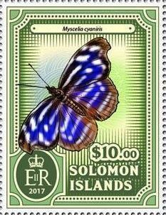 Stamp: Myscelia cyaniris (Solomon Islands) (Butterflies) Col:SB 2017-001