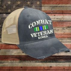 Korea Combat Veteran Trucker Hat