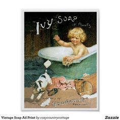 Liven up the walls of your home or office with Vintage wall art from Zazzle. Check out our great posters, wall decals, photo prints, & wood wall art. Vintage Labels, Vintage Ads, Vintage Prints, Vintage Posters, Vintage Bathtub, Magazine Pictures, Retro Poster, Dog Poster, Vintage Metal Signs