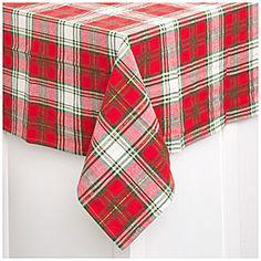 Plaid Fabric Christmas Tablecloth at Big Lots.