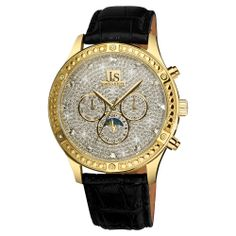 Grace your wrist with this stylish Joshua & Sons watch. This sparkling watch features a powder pave dial and a calfskin leather strap. Topped with beaded crystal accents, this multi-functional timepiece is sure to catch a lot of attention.