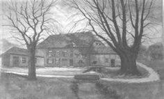 Alte Ansicht der Compesmühle in Mönchengladbach
