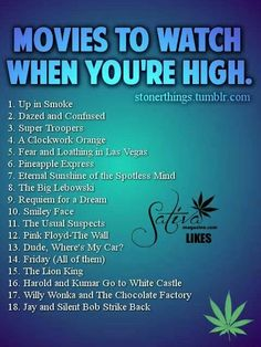 Movies to watch when you're high