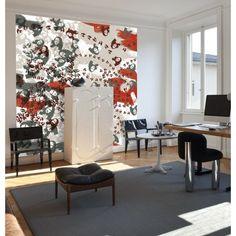 Tapisserie de la Joconde 2 lés raccords couleurs rouge blanc