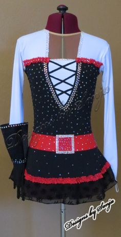 Ice Skating Dress designed and created by Sonja Ballin. All Designs copyright ©2015, Sonja Ballin of Tampa Bay, Florida. www.sonjadesigns.com Check us out  (and like) on Facebook:  https://www.facebook.com/pages/Designs-By-Sonja/220737151285770