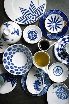 Sieger by Fürstenberg Wunderkammer Dinnerware Blue And White China, Blue China, Tabletop, White Dishes, China Patterns, Blue Patterns, Rustic Farmhouse Decor, Ceramic Painting, Pottery Painting