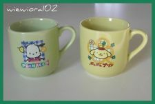 Vintage SANRIO Smiles POCHACCO Tu-Tu 1999 SET Lot of 2 Little CUP Mug JAPAN