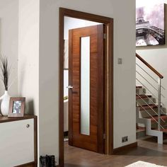 Aragon walnut flush veneer door with frosted safety glass is fully pre-finished, dark and moody to suit the discerning amongst you. Pooja Room Door Design, Door Design Interior, The Doors, Sliding Doors, Wooden Glass Door, Walnut Doors, Veneer Door, Double Door Design, Flush Doors
