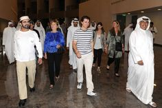 """His Highness Shaikh Mohammad Bin Rashid Al Maktoum meets """"Mission: Impossible — Ghost Protocol"""" team. ♥ REPIN, LIKE, COMMENT & SHARE! ♥"""