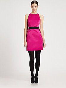 Milly - Peau De Soie Cascade Party Dress