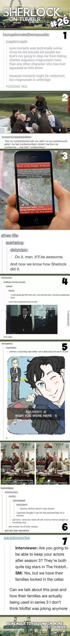Sherlock On Tumblr #26<<< The last one...
