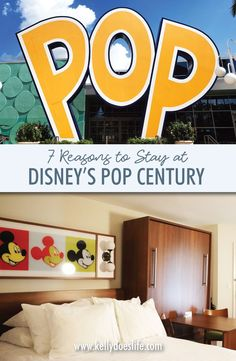 7 Reasons to Stay at Pop Century At Disney - Best Value Resort! Top reasons you should stay at Walt Disney's World Pop Century Resort. Why families will love staying at this beautifully themed resort! Map, tips, and more! Disney On A Budget, Disney World Planning, Disney World Vacation, Disney Cruise Line, Disney World Resorts, Disney Vacations, Walt Disney World, Disney World Tips And Tricks, Disney Tips