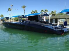 black mti offshore powerboat