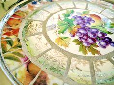 Autumn/Thanksgiving Broken China Mosaic Plate