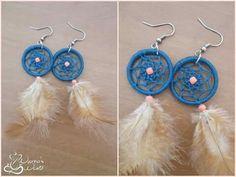 #earrings #dreamcatcher #blue