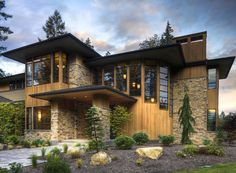 Modern design Luxury style house elevation photo - modern but really cool