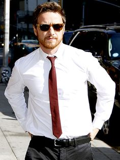 Business exec or movie star? James McAvoy looks handsome after an appearance on The Late Show with David Letterman on Wednesday in N.Y.C.