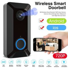 Video Doorbell - Home Security Device New Smart Wireless Phone DoorBell Camera WiFi Smart Video Intercom Ring Doorbell - New Smart Wireless Phone DoorBell Camera WiFi Smart Video Intercom Ring Doorbell Price : Home Security Devices, Home Security Camera Systems, Security Cameras For Home, Best Home Automation, Ring Video Doorbell, Remote Viewing, Intercom, Video Camera, Wifi