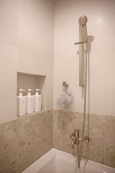 온라인집들이 :: 투톤타일과 조적식 파티션 포인트의 거실 욕실 인테리어 : 네이버 블로그 Bathtub, Bathroom, Standing Bath, Washroom, Bathtubs, Bath Tube, Full Bath, Bath, Bathrooms