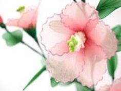 ▶ DIY Instruction Fabric Flower -Handmade Nylon Hibiscus from New Sheer Creations - YouTube