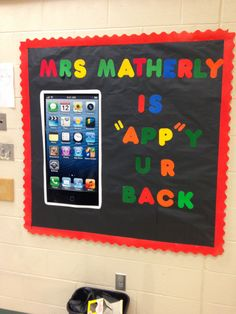 Computer lab back to school bulletin board!