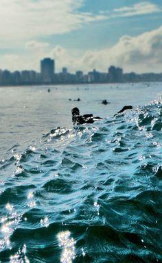 Surf Girl at Santos city - Brazil