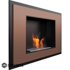 The simple, elegant shapes and materials of the portal biofireplace make it perfectly resembles a modern wall mounted bioethanol fireplace. White painted steel with bio fire insert. Wall Mounted Fireplace, Fireplace Inserts, Wall Mounted Tv, Bio Ethanol, Ethanol Fuel, Bioethanol Fireplace, Gas Fireplace, Fireplaces, Gold Walls