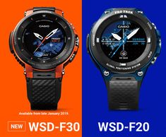 8b0b4995ceed Casio Protrek Smart WSD-F30 Watch Now Has More Wearable Size   Improved  Battery Life
