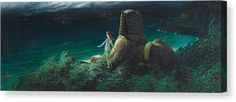 Framed Nude Women Canvas Print - Sphinx With Undine by Karl Wilhelm Diefenbach Got Print, Stretched Canvas Prints, How To Be Outgoing, Fine Art America, Canvas Art, Poster Prints, Museum, Nude
