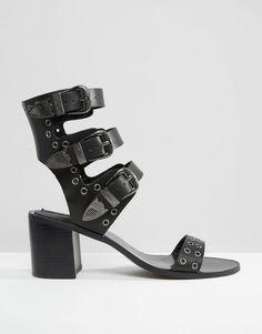 Image 2 ofMango Triple Buckle Western Sandal