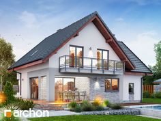 Dom w ambrozjach Home Fashion, Villa, Cabin, Mansions, House Styles, Home Decor, Cottage, Denim Quilts, Decoration Home